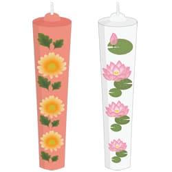 2種類の蝋燭