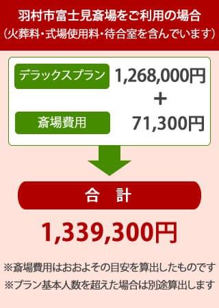 羽村市富士見斎場を利用した大型葬儀・社葬デラックスプランの内訳
