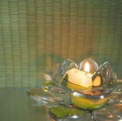ガラス器の蝋燭