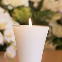 供花と蝋燭